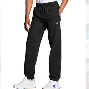 Champion Black Powerblend Relaxed Elastic Bottom Pants Sweatpants Size Large NWT